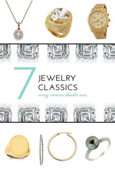 How would you like to add these classics to your wardrobe?  #jewelry #jewelryclassics #gold #diamonds #silver #rings #necklaces #earrings #watches #pearls #whitegold