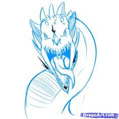 How To Draw A Wyvern, Step By Step, Dragons, Draw A Dragon - 728x728 - jpeg
