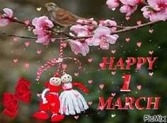 Happy Day, Good Morning, March, Animation, Christmas Ornaments, Holiday Decor, Pictures, Baby, Frases