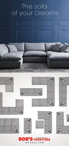 My modular sofa is a dream come true! My Living Room, Home And Living, Living Room Furniture, Living Room Decor, Interior Design Living Room, Bob's Furniture, Apartment Living, Home Projects, Home Remodeling