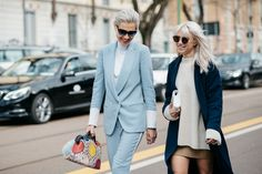 Street Style en Milan Fashion Week, febrero 2015 © Jessie Bush