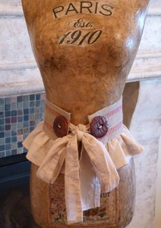 Vintage Inspired Dress Form Mannequin French Paris by autumnlady18, $319.00