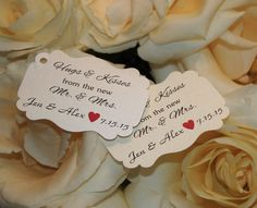 Wedding Hugs and Kisses Favor Tags by RSVP Custom Creations