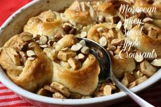 Moroccan Spicy Sweet Apple Croissants