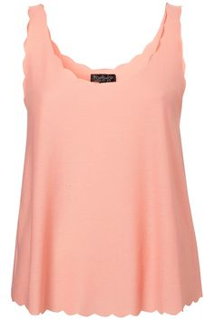 Scalloped vest - topshop