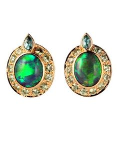 Opal earrings by Paula Crevoshay