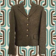 Lauren by Ralph Lauren 4-Button Blazer  Olive Green by VintishNYC