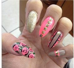 Love the designs but not the shape of the nails