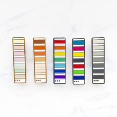 Pantone Colour Swatch Enamel Pin [Pastel Rainbow CMYK RGB Monochrome Skintone] by magicalmaidens on Etsy