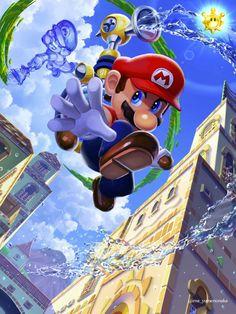 Super Mario World, Mundo Super Mario, Super Mario Games, Super Mario Art, Mario Y Luigi, Mario Kart, Mario Fan Art, Super Mario Sunshine, Nintendo Super Smash Bros