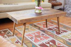 GOWANUS coffee | Mid century modern inspired reclaimed wood coffee table