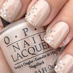 Love this for a wedding mani. The girls that do my nails would be so excited to do this too haha