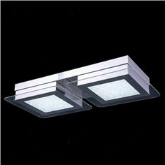 Led acrylic chandelier ceiling light fixture flush mount home 2 light modern contemporary led crystal ceiling light in square shape flush mount aloadofball Image collections