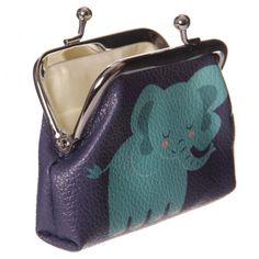 Mini peněženka na mince Zooniverse Slon #zooniverse #slon #penezenka #elephant #purse Coin Purse, Purses, Wallet, Box, Mini, Design, Handbags, Snare Drum