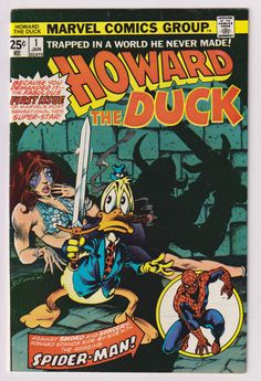 Howard the Duck; Vol 1, 1, Bronze Age Comic Book. FN/VF (7.0). January 1976. Marvel Comics. #howardtheduck #stevebgerber #comicsforsale
