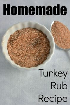 Turkey Rub- ***Very good! You have all of the ingredients in your pantry for a tasty turkey rub suitable for frying or roasting your Thanksgiving turkey. Homemade Spices, Homemade Seasonings, Smoked Turkey Rub, Dry Rub For Turkey, Turkey Brine, Turkey Marinade, Deep Fry Turkey, Turkey Injection Marinade, Smoked Beef