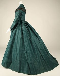 Dress (image 2) | probably  American | 1863 | silk | Metropolitan Museum of Art | Accession Number: 1979.346.21a, b
