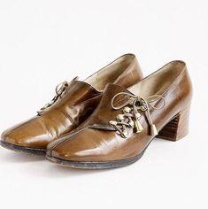 1960s Roger Vivier Pumps   Vintage Vivier Shoes   60s Brown Vintage Pumps
