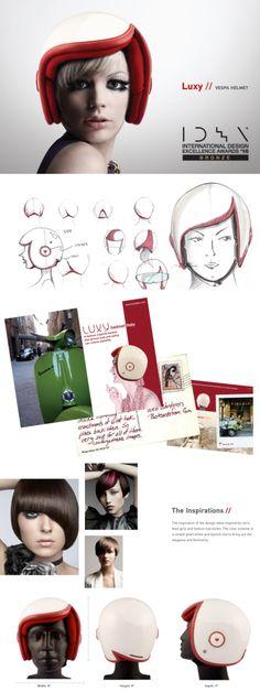 """Glamorous"" helmet – Luxy Vespa Helmet    Designer: Daniel Don Chang    #vespa"
