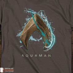 8d23fbb4b5a3 Aquaman Water Shield Symbol, T-Shirt Short/Long Sleeve for Men and Women,  Junior, Youth, Officially Licensed