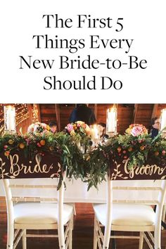 The First 5 Things Every New Bride-to-Be Should Do via @PureWow