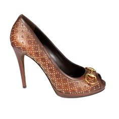 Gucci Shoes for Women Brown Leather Pumps (GGW2703)
