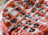 Clean Eating Red Velvet Waffles for Two...dashing dish recipes