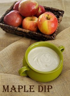If you love maple syrup, you will love this easy maple dip. Serve with apples for an easy fruit dip. Makes a great dessert for a fall party. Fruit Diet, New Fruit, Fresh Fruit, Dip Recipes, Fruit Recipes, Jelly Recipes, Dessert Recipes, Sauces, Health Foods