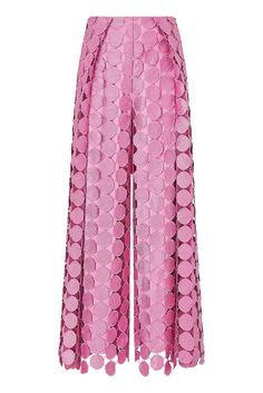 These maximalist trousers are wide-legged with a statement tonal overlay with circular pattern. High waist Wide flare shape Concealed zip fastening Model is and is wearing a UK 6 Harem Pants, Trousers, Circular Pattern, I Dress, Lilac, Wide Leg, Legs, Model, How To Wear