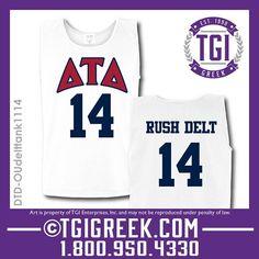 TGI Greek - Delta Tau Delta - Fraternity Recruitment - Greek T-shirts - Comfort Colors Tanks  #tgigreek #deltataudelta