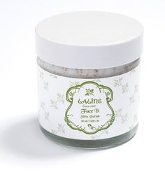 Face It - Skin Polish by Laline USA. $29.95. A unique facial scrub containing peach granules for a deep, thorough cleansing of your pores. Helps to remove dead skin cells and rejuvenate the skin, for a younger and fresher looking face.