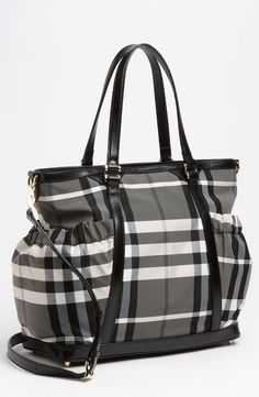 Burberry diaper bag.  There is just something about Burberry that I can't get over......
