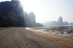 Thailand Tonsai Bay Cliff Cliff, Travel Photos, Monument Valley, Thailand, Asia, Gallery, Beach, Water, Outdoor