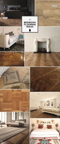 Bedroom flooring ideas and pattern designs..