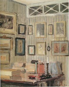 The Artist's Study, rue de l'Université, c. 1910 via peak of chic blog