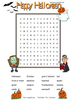 kids halloween word search - Halloween Word Searches For Kids