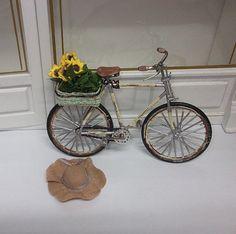 Dollhouse miniature old  bike scale 1/12 by Teruka on Etsy