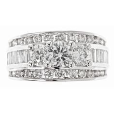 2.95 CT. T.W. Diamond Bridal Ring in 14K White Gold (H-I, I1)