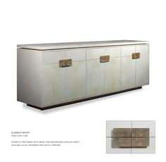John Lyle Design - ELIZABETH BUFFET  Available in various colors of parchment or shagreen with bronze handles.