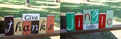 Reversible Holiday Décor:   Give Thanks, Jingle Bells  by RevisitedAndRevamped, $25.00