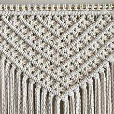 Large Macrame Wall Hanging/Custom Order/Modern Macrame Wall Hanging Diy, Macrame Curtain, Macrame Art, Macrame Projects, Macrame Knots, Diy Keychain, Macrame Design, Macrame Patterns, Leather Craft