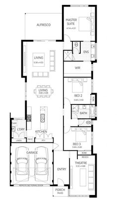 Display Homes. From traditional to contemporary, our display homes are designed to inspire with experienced sales consultants on hand. Plunkett Homes House Layout Design, House Layout Plans, Design Your Dream House, House Layouts, Beach House Floor Plans, Narrow Lot House Plans, Modern House Plans, Duplex Plans, Free House Plans