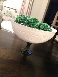 DIY dollar store display bowl