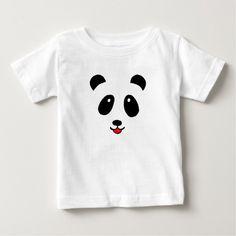 Camiseta niño blanca con silueta de panda - Anverso