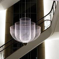 Meshmatics Chandelier by Rick Tegelaar now also available in size large -> http://www.wannekes.com/design-pendant-light-hanging-lamp-online-shop-modern-lighting/2018-meshmatics-chandelier-large-lighting-rick-tegelaar-lamps-chicken-wire.html.