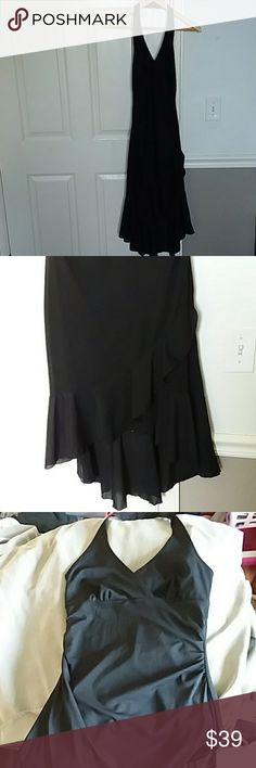 Perseption little black dress Good condition. Perfect for holiday parties! Comes from smoke free and pet free home Perseption Dresses Midi