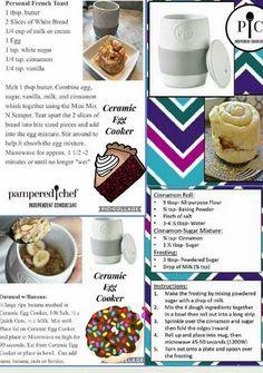 Ceramic Egg Cooker - Recipes World Pampered Chef Egg Cooker, Pampered Chef Party, Pampered Chef Recipes, Baker Recipes, Mug Recipes, Cooking Recipes, Recipies, Yummy Recipes, Healthy Pork Recipes