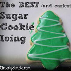 Tasty sugar cookie icing recipe