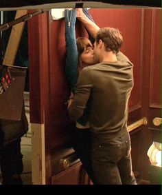 Filming that Elevator Scene #50 #fiftyshades @lilyslibrary WOW