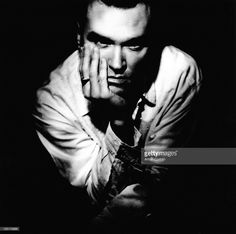 English singer <a gi-track='captionPersonalityLinkClicked' href=/galleries/search?phrase=Morrissey+-+Singer&family=editorial&specificpeople=11521934 ng-click='$event.stopPropagation()'>Morrissey</a> is photographed for NME on November 22, 1989 in Sussex, England.